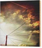 #sunset #sun #tagsforlikes.com #tflers Wood Print