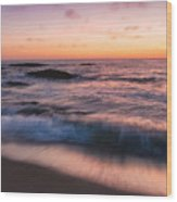 Sunset Surf Wood Print