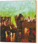 Sunset Terrace Intimacy Wood Print by Marilyn Sholin