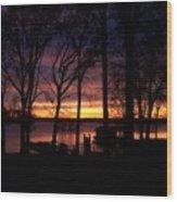 Sunset Thru The Trees Wood Print