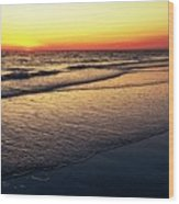 Sunset Time On Sunset Beach Wood Print