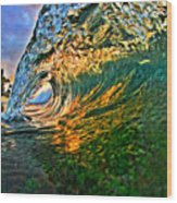 Sunset Tube Wood Print by Paul Topp
