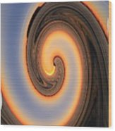 Sunset Twist Wood Print