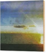 Sunset Under The Clouds Wood Print
