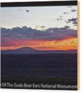 Sunset Valley Of The Gods Utah 05 Text Black Wood Print