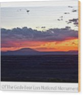 Sunset Valley Of The Gods Utah 05 Text Wood Print