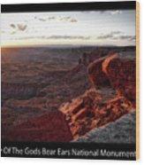 Sunset Valley Of The Gods Utah 09 Text Black Wood Print