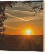 Sunset Vienna West Virginia Wood Print