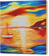 Sunset View Wood Print