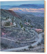 Sunset View From Jerome Arizona Wood Print