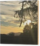 Sunset View From Olana  Wood Print