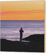 Sunset Watcher Wood Print