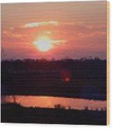 Sunset Waters Wood Print
