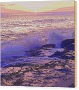 Sunset, West Oahu Wood Print