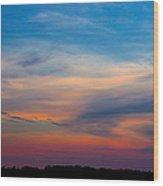 Sunset Windsor Illinois Wood Print
