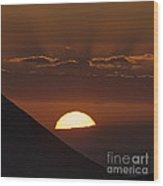 Sunset With Green Ray Phenomenon Wood Print