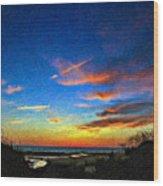 Sunset X Impasto Wood Print