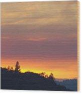 Sunset Yellow Orange Purple Sunset Giclee Art Prints Baslee Troutman Wood Print