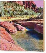 Sunset Zion National Park Wood Print