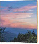 Sunset's Blue Hour Wood Print