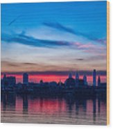 Sunsets Over Philly Wood Print