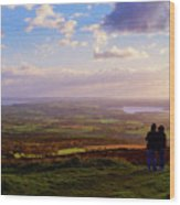 Sunsets Over The Irish Midlands Wood Print