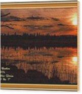 Sunsettia Gloria Catus 1 No. 1 L A. With Decorative Ornate Printed Frame. Wood Print