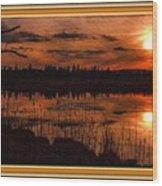 Sunsettia Gloria Catus 1 No. 1 L B. With Decorative Ornate Printed Frame. Wood Print