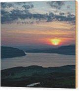Sunsetting Over Portree, Isle Of Skye, Scotland. Wood Print