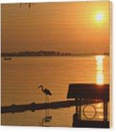 Sunsey On Lake Dora Wood Print