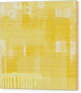 Sunshine- Abstract Art Wood Print