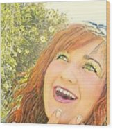 Sunshine And Laughter Wood Print