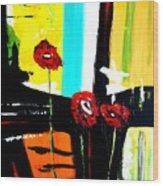 Sunshine And Poppies Wood Print