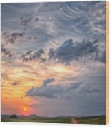 Sunshine And Storm Clouds Wood Print