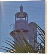 Sunshine At The Lighthouse Wood Print