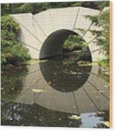 Sunshine Brige Reflection Wood Print