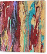 Sunshine Coast Colorful Abstract  Wood Print