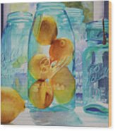 Sunshine In A Jar Wood Print
