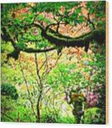Sunshine In The Garden Wood Print