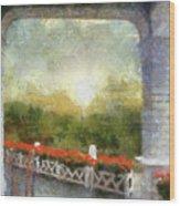 Sunshine On The Grand Hotel Mackinac Island Michigan Pa 01 Wood Print