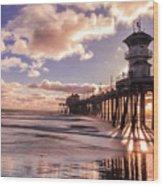 Sunshine Pier Wood Print