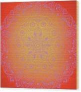 Sunshine Purple Mandala Wood Print