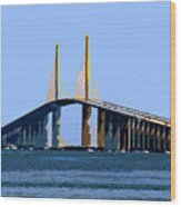 Sunshine Skyway Summer Wood Print