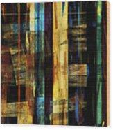 Sunshine Wharf Wood Print