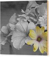 Sunshining Yellow Wood Print
