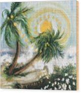 Sunshower   Wood Print