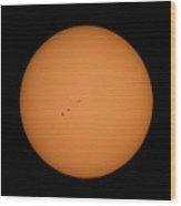 Sunspots 8/19/17 Wood Print