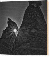 Sunstar At Tent Rocks Wood Print