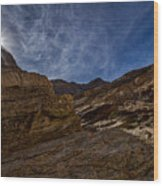 Sunstar Over Mosaic Canyon - Death Valley Wood Print