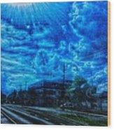 Sunstruck Wood Print